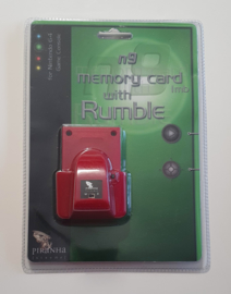 Piranha Extreme n9 Memory Card 1mb with Rumble Red (New)