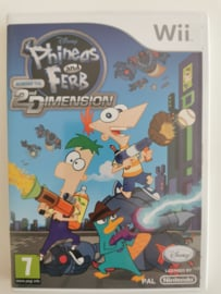 Wii Disney Phineas and Ferb Across the 2ND Dimension (CIB) FAH