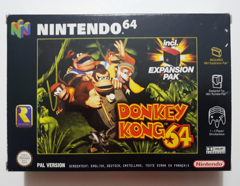 N64 Donkey Kong 64 (CIB) With Expansion Pak