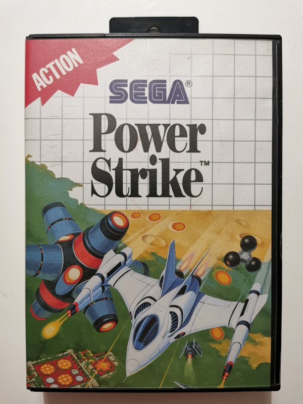 Master System Power Strike (Box + Cart)