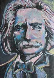 Portrait of Grieg in Blue