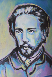 Portrait of a young Tchaikovksy
