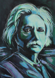 Portrait of Grieg in Green