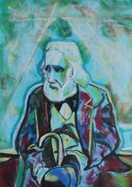 Portrait of Degas on bench