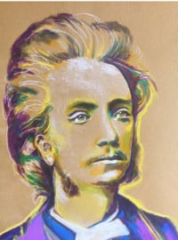 Portrait of a young Grieg