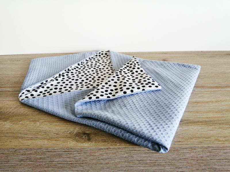 Wikkeldoek | Jeans Lichtblauw | Dots