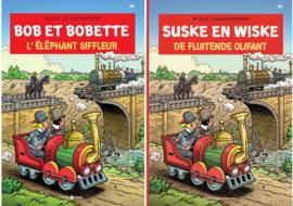 Suske en Wiske - 2x De fluitende Olifant / L'éléphant siffleur - Combipakket Nederlands / Franse edities - speciale uitgave Trainworld - deel 356 - sc - 2021 - NIEUW!