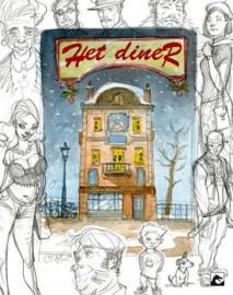 PRE-order - Het Diner (herziene editie) - hc met stofomslag + artprint - 2021 - NIEUW!