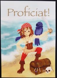 Wenskaart  - Proficiat ! -  Jessica Raes - gelimiteerde collectie