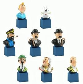 Tintin kleine bustes -  8-delige set - Moulinsart / Hergé  - 2017