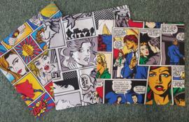 Diverse Sierkussens hoejes  met comic print  40 x 40 cm. - Comic kleur - Comic zwart/wit - Gelimiteerde oplage!