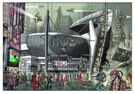 Lichtstadkunst door: John Heijink -PSV stadion - A2 formaat