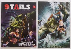 9 Tails - Deel 1 - De kronieken van de rode Sphynx - met artprint - gesigneerd - Engels - sc - 2021 - Nieuw!