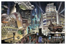 Lichtstadkunst door: John Heijink - Nightlife Blob - A2 formaat