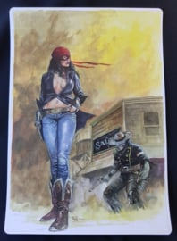 Reboot Comics Prent - Stay home Comic Con project - gesigneerd / gelimiteerd - Apriyadi Kusbiantoro  - 2020 - AANBIEDING!