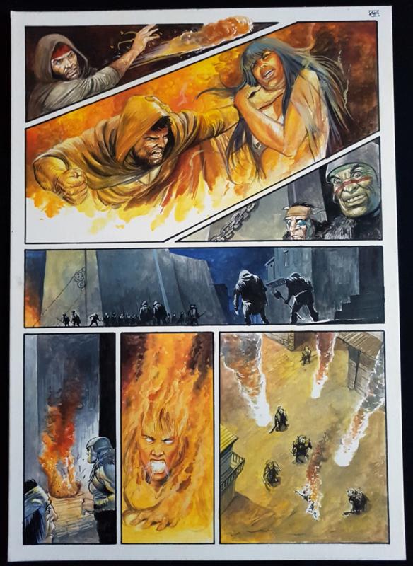 Apriyadi Kusbiantoro - originele pagina in kleur - Saul - deel 1 - de levende mantel - pagina 40 - 2018