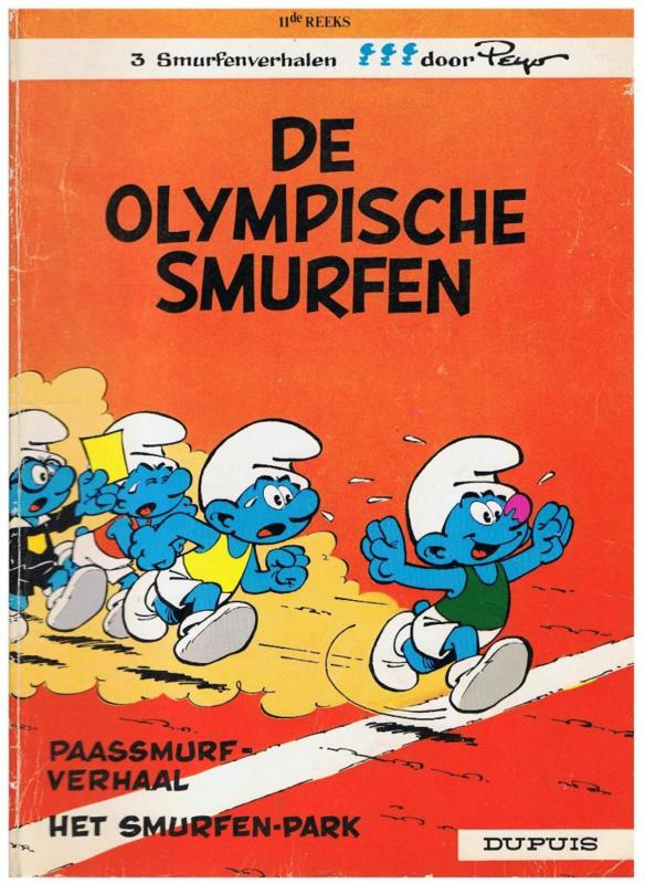 Smurfen - De Olympische Smurfen - deel 11 - sc - 1e druk - 1983