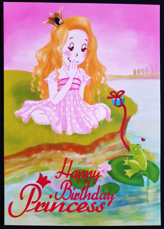 Wenskaart  - Happy Birthday -  Jessica Raes - gelimiteerde collectie