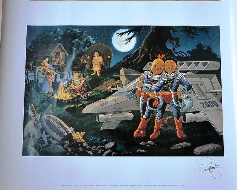 Suske en Wiske - Millenium poster - gelimiteerd / genummerd / gesigneerd - 2000