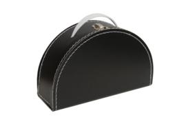 Koffer Halfrond - zwart (custum-made)