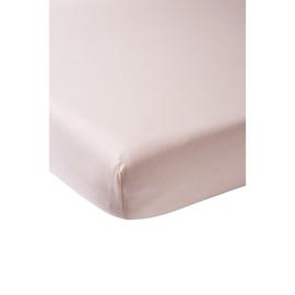 Meyco - Ledikant Hoeslaken - Licht roze (60x120)