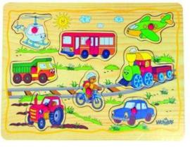 Woody inzetpuzzel transport