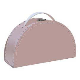 Koffer Halfrond - roze (custum-made)