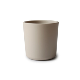 Mushie Cup/Beker (2stuks) vanila