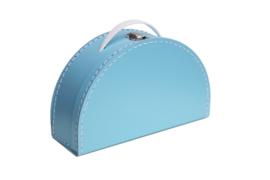 Koffer Halfrond - licht blauw (custum-made)