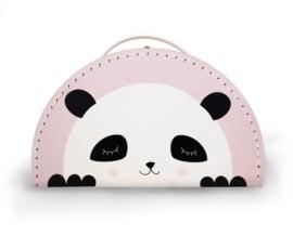 Koffer panda - pink
