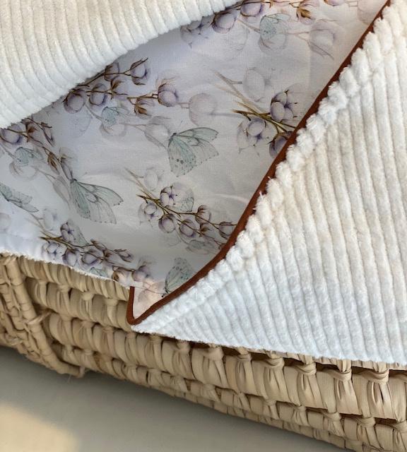 Omslagdoek Cotton - Rib ecru