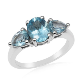 Ring Topaas blauw