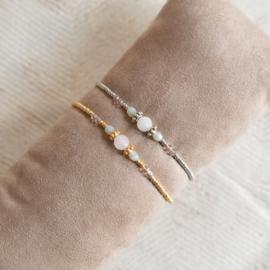 Armband rozenkwarts