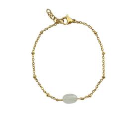 Armband maansteen wit