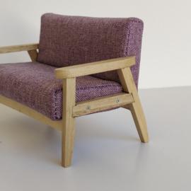 Purple Fabric Sofa