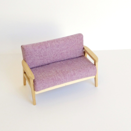 Purple Fabric Sofa