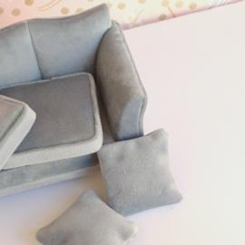 Grey Velvet Sofa