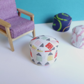 Fabric Pouffe