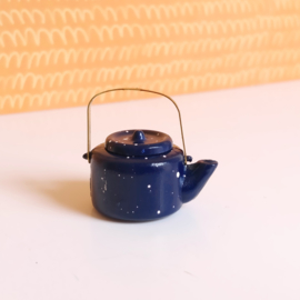 Blue Speckled Teapot