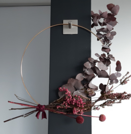 Bordeaux bloemenring
