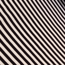 Zwart witte gestreepte canvas