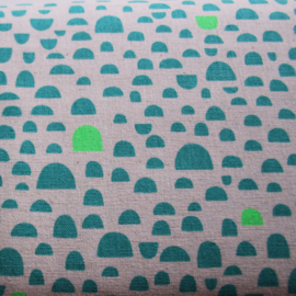 Green bump - Kokka Fabric