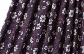 Purple flower tricot  *Bio