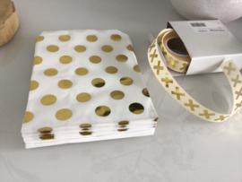 Gouden bolletjes zak
