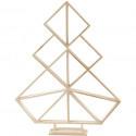 Geometrische kerstboom in hout - klein