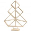 Geometrische kerstboom in hout - groot