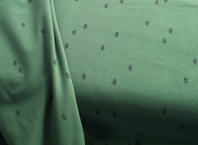 Triangle green french terry   *Bio