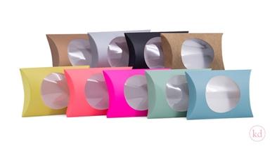 Pillow box - neon oranje