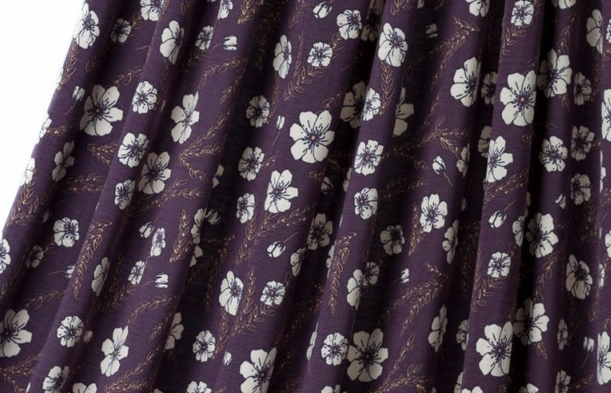Purple flower tricot  *Bio