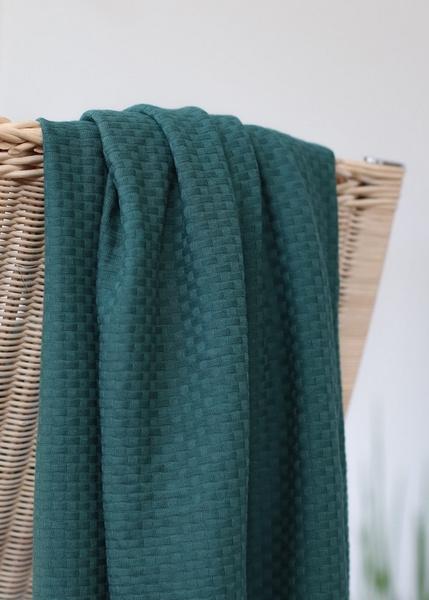 Organic wicker knit - petrol